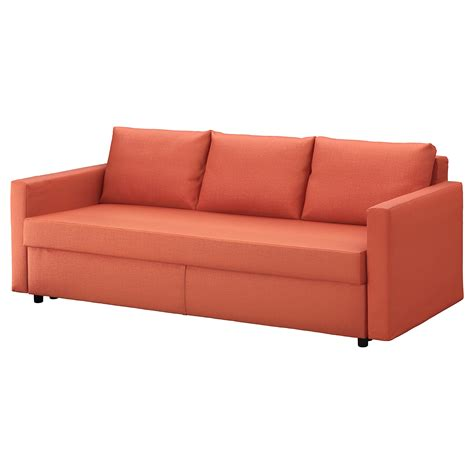 orange sofa bed friheten three seat sofa bed skiftebo dark orange ikea