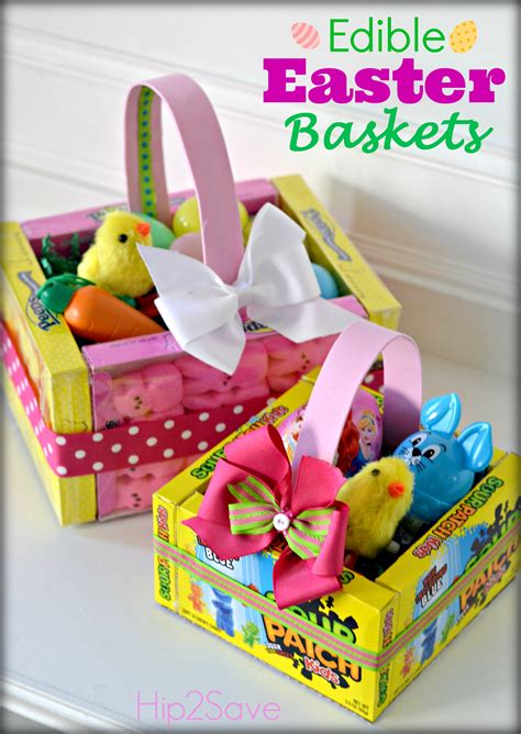How To Make A Easter Basket Out Of Paper - edible easter baskets easy easter craft hip2save