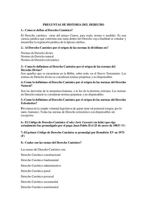 preguntas abiertas sobre historia preguntas de historia del derecho cuestionario