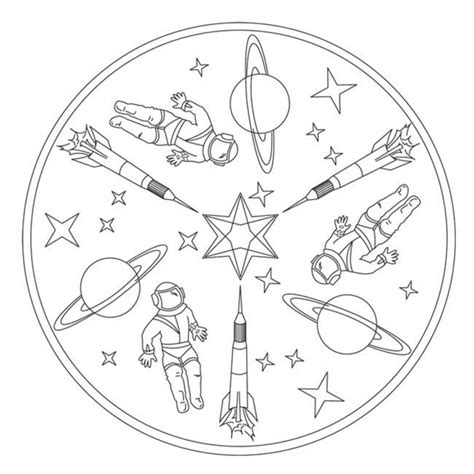 space mandala coloring pages rockets in space mandala for pre k kindergarten and