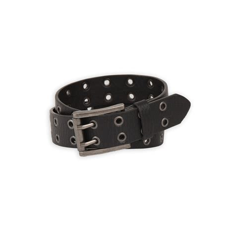 basic editions boy s leather belt grommet