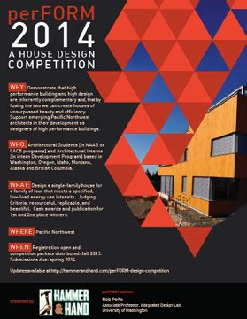 design competition flyer seattle home builder unveils perform 2014 a house design