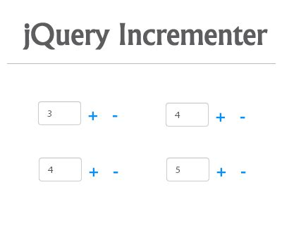Html Format Numeric Input | incrementer jquery plugin for numeric input spinner
