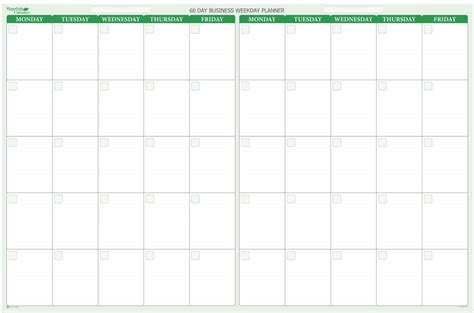 weekend only calendar template 60 day 2 month erase calendar 38 x 58
