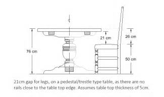 standard dining table chair dimensions image