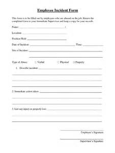 Sample Employee Incident Report Form Employee Incident Report Template 10 Free Pdf Word