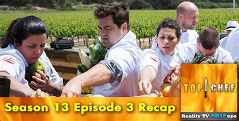 the voice top chef aim to break amazing race s top chef season 13 episode 3 spines and vines