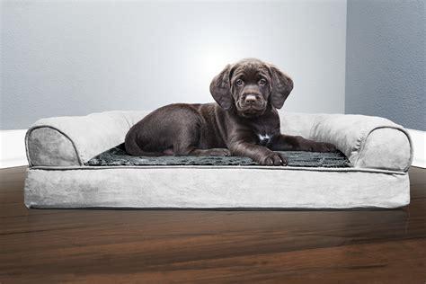 orthopedic pet sofa furhaven plush suede orthopedic sofa dog bed pet bed ebay