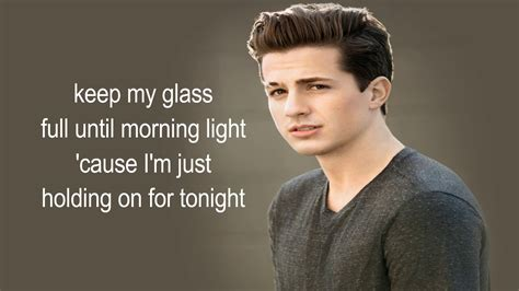 charlie puth chandelier charlie puth chandelier lyrics youtube