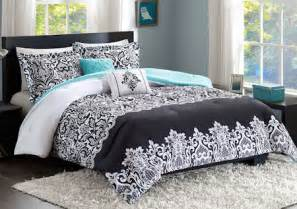 white and teal comforter set black white turquoise teal blue comforter set