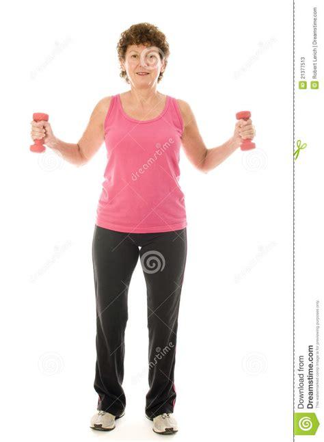 senior age senior middle age exercising with dumbbells stock photos image 21377513