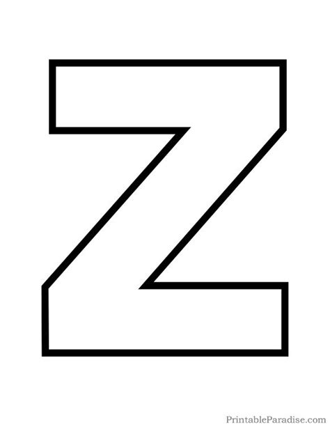 printable z template printable letter z outline print bubble letter z