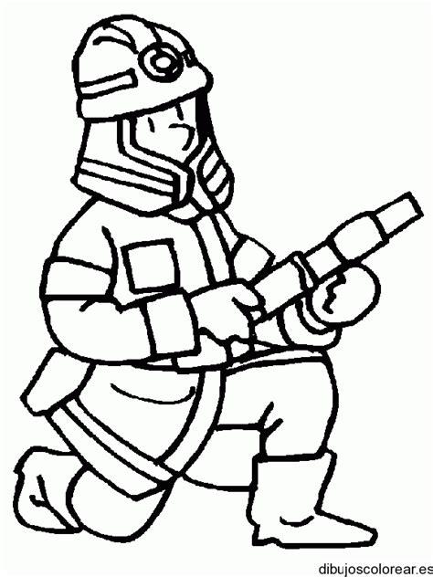 imagenes de hombres trabajando para colorear dibujo de un bombero trabajando