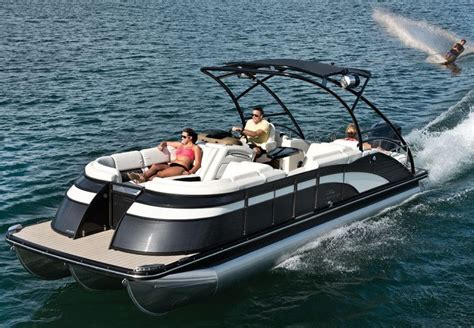 tritoon boat with head q series luxury pontoon boats by bennington