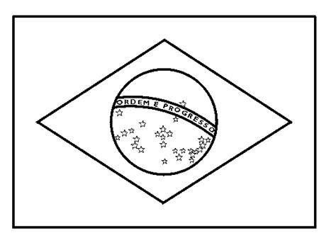 Flags To Print And Color Coloring Part 16 Brazil Flag Coloring Page