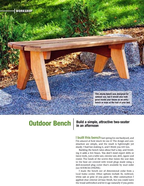 garden benches plans outdoor bench plans woodarchivist