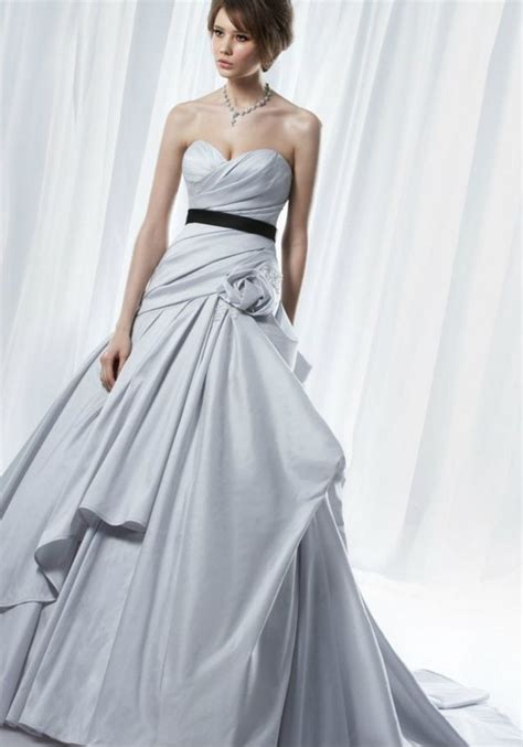 Light Wedding Dresses grey wedding dresses