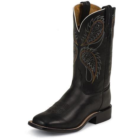 black square toe boots s tony lama 174 stallion square toe boots black