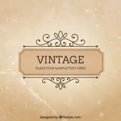 Vintage Sign Templates Free by Vintage Frame Template Vector Free