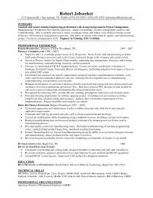 Sle Resume Of Project Manager by Engineering Director Resume Sales Engineering Lewesmr