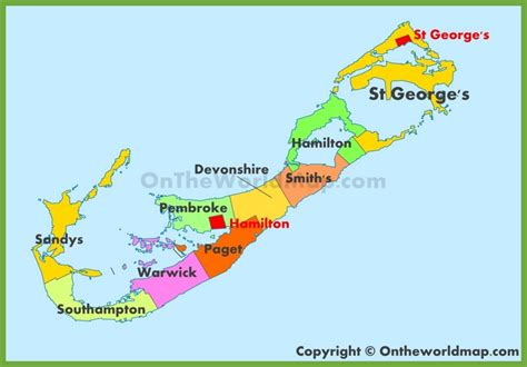 printable road map of bermuda city of hamilton bermuda map bing images