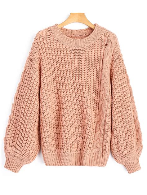 knit sweter 2019 chunky cable knit sweater rosegal