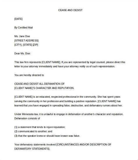 sle cease and desist letter defamation the best letter sle