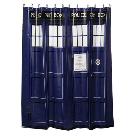 doctor who bathroom set doctor who your very cool tardis shower curtain