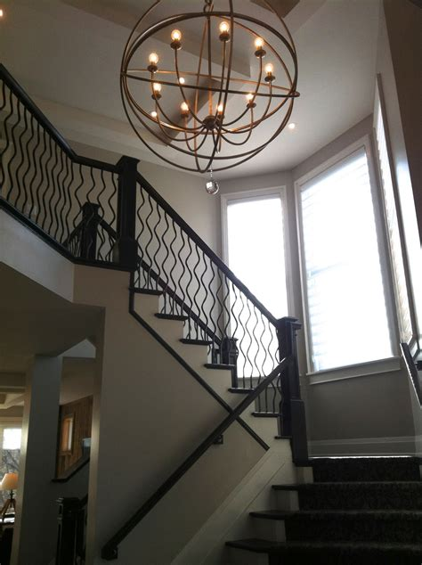 12 ideas of staircase chandeliers