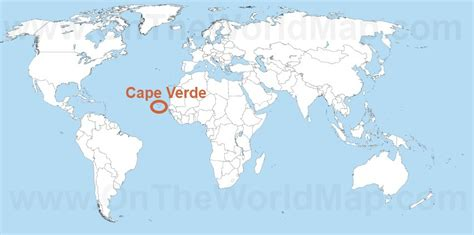 cape verde on a world map cape verde on the world map cape verde on the africa map
