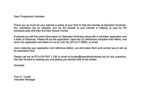thank you for volunteering letter gallery letter format examples