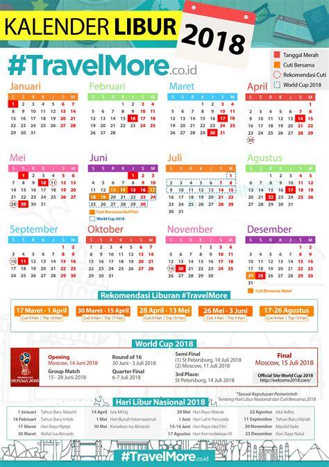 Kalender 2018 Menteri Kalender Libur 2018 Travelmore