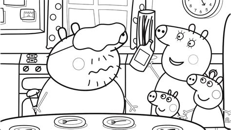 Galerry daddy pig coloring page