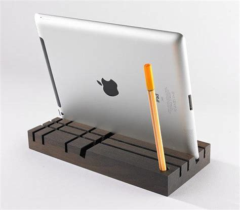 tobago wood desk organizer and tablet stand gadgetsin
