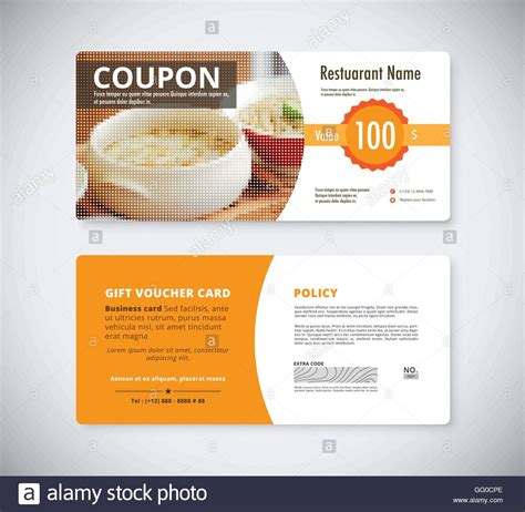 free templates for flyers with coupons gift coupon voucher template for restaurant flyer