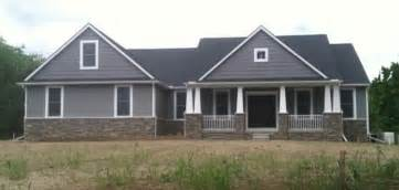 custom ranch washington twp craftsman exterior