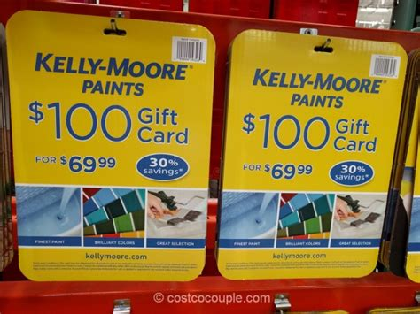 Gift Cards Sold At Costco - kelly moore paints gift card