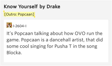 drake know yourself lyrics outro popcaan know yourself by drake