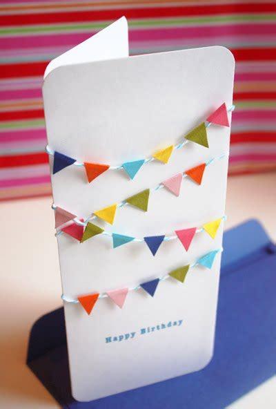 Diy Birthday Card Mini Bunting Birthday Card How About Orange