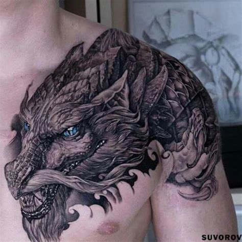 dragon tatoo shoulder armor tattoo pinterest tatoo