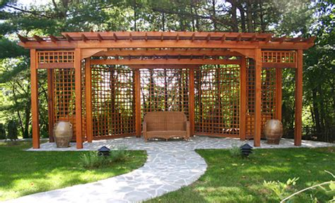 privacy pergola pergola with privacy lattice no bp11 by trellis