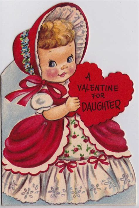 valentines for daughters vintage 1952 a for greetings card b11