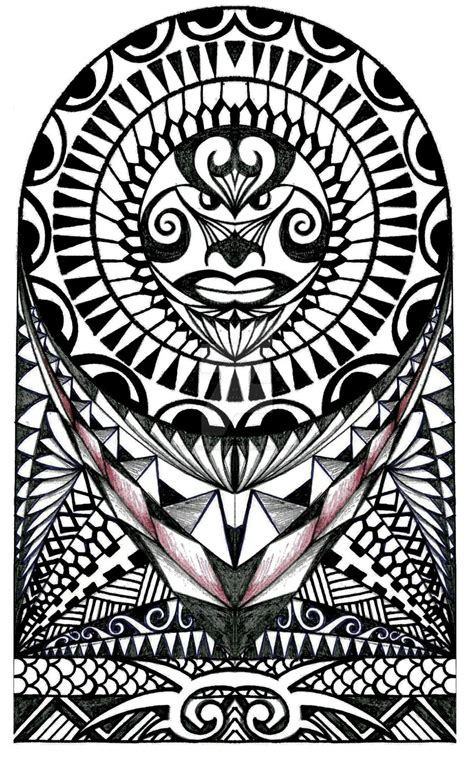 free polynesian tattoo designs polynesian halfsleeve design by thehoundofulster on
