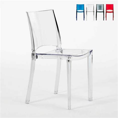 Chaise De Bar Transparente by Chaise Transparente Empilable Cuisine Bar Grand Soleil B Side