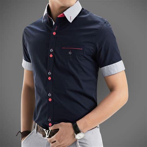 design your dress shirt 2015 new brand mens dress shirts short sleeve casual shirt