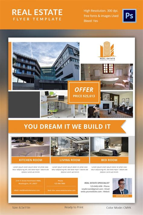 real estate brochures templates free real estate flyer template 37 free psd ai vector eps