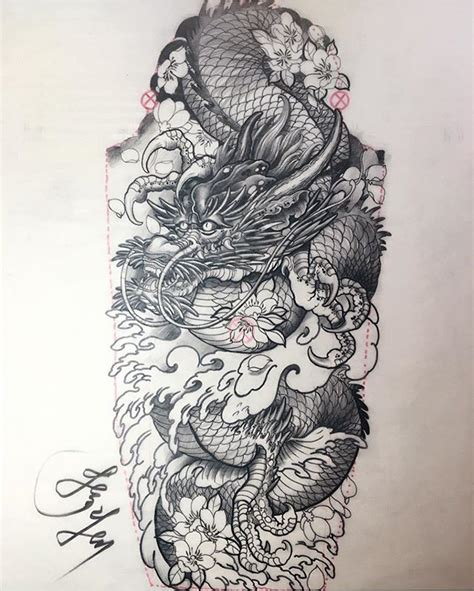 tattoo sketch dragon pin by amaranthine on ink slinger pinterest irezumi