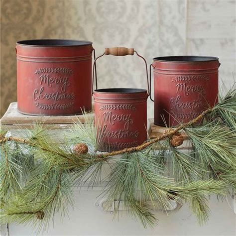 metal christmas pail set 3 qc92634