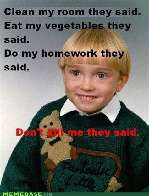 Fuck You Kid Meme - creepy kid know your meme