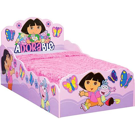 dora toddler bed dora the explorer wooden bed toddler walmart com